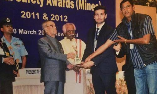 आरके मार्बल नेशनल सेफ्टी अवार्ड (माइंस) से सम्मानित