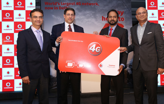 vodafone launches 4g services on superior 1800 mhz in Delhi & NCR