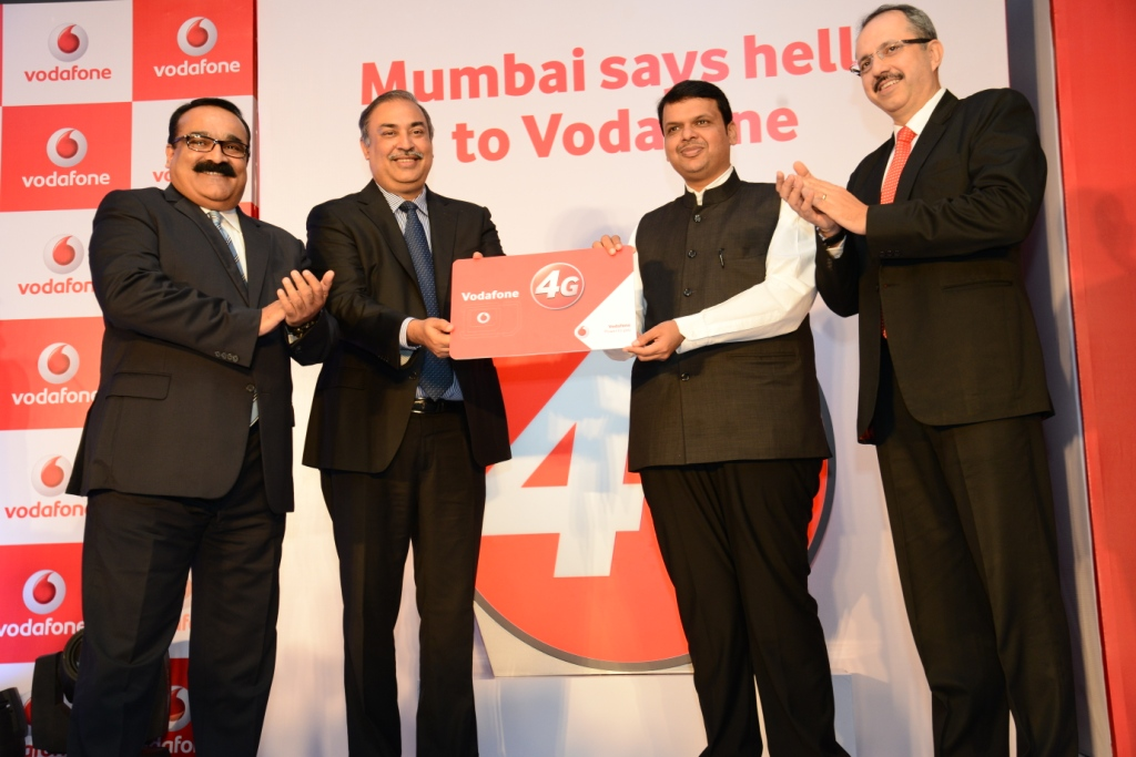 Vodaphone India launches 4G services in  Mumbai