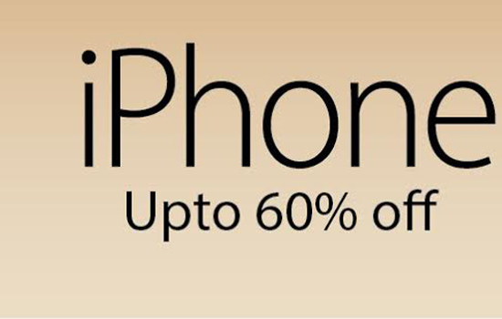 Apple IPhones 5 & 6 series in 60% discount