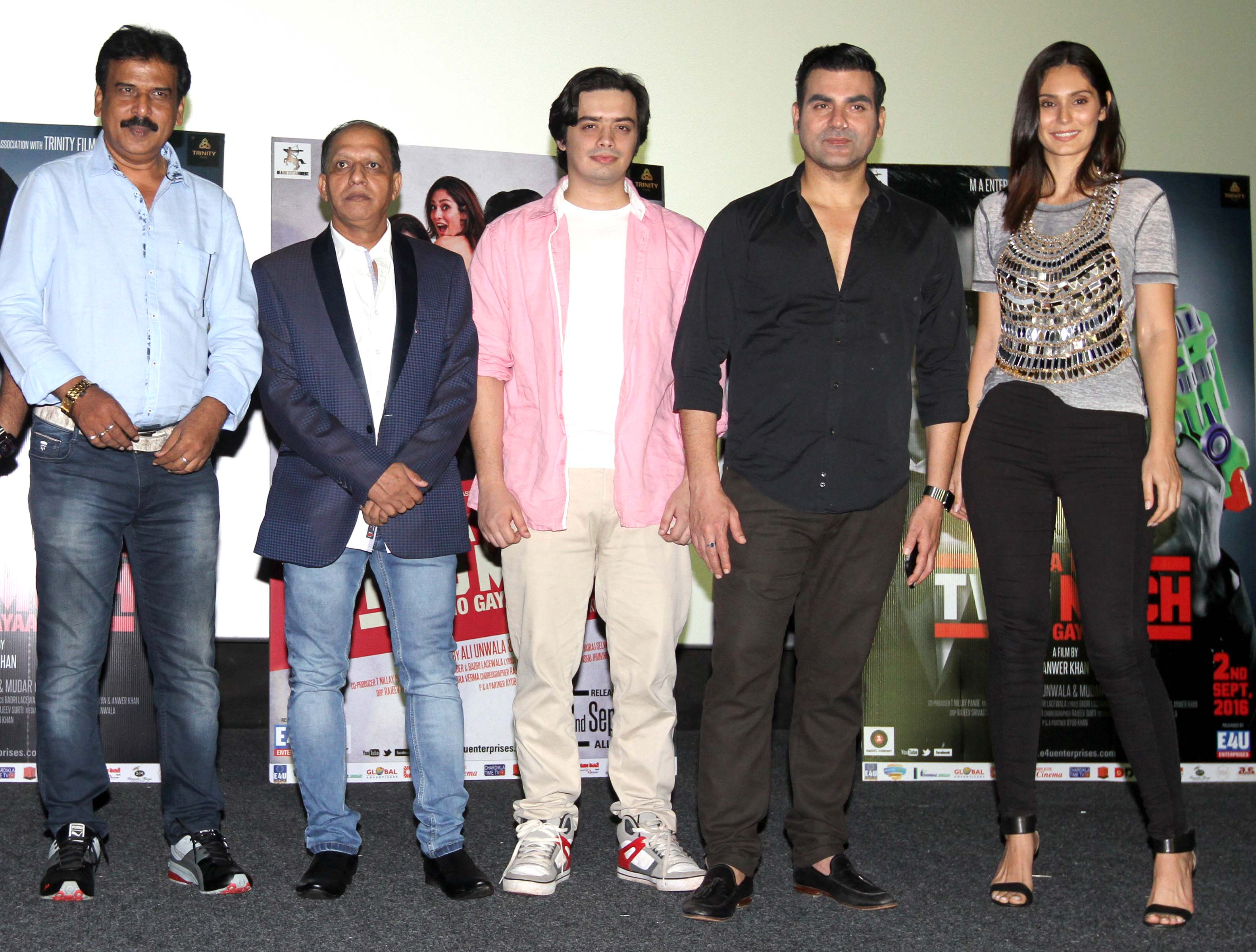 Arbaaz Khan,Bruna Abdullah,at brand new trailer launch of film Yea Toh Two Much Ho Gayaa