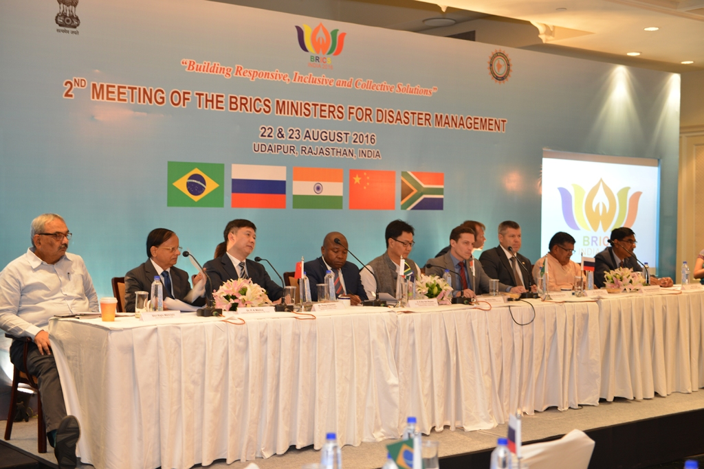 UDAIPUR DECLARATION  OF BRICS MINISTERS FOR DISASTER MANAGEMENT