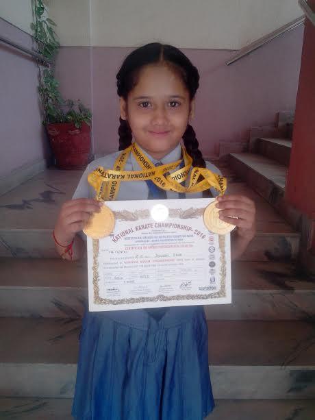 Ms. Jasleen Kaur won 2 gold medals
