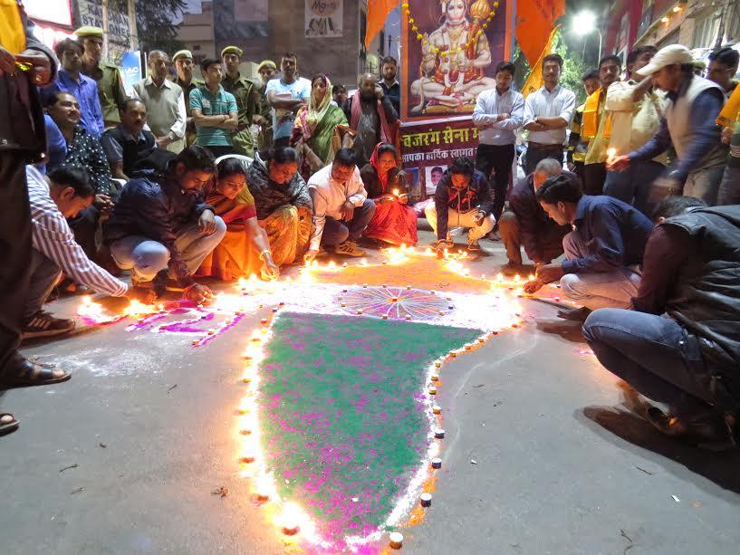 जलाये दीप यादे रोशन:हिन्दु विजय दिवस ध्ूामधाम से मनाया