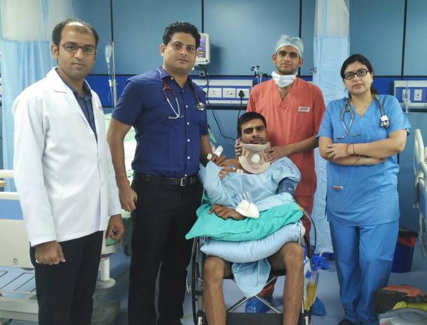 पीआईएमएस में गर्दन की हड्डी का सफल ऑपरेशन