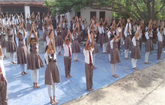 अंतर्राष्ट्रीय योग दिवस मनाया