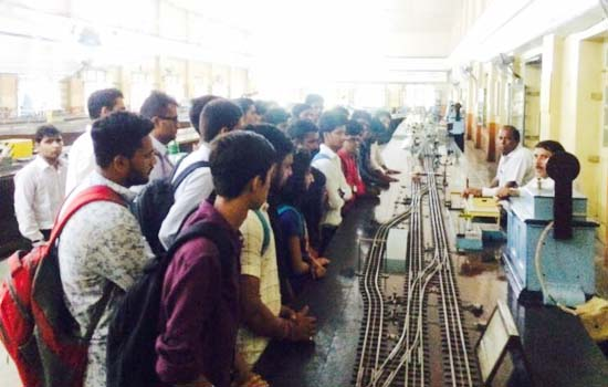 The technical visits  of  second and third year students