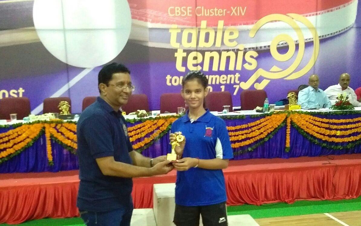 टेबल-टेनिस में नक्षत्री का द्वितीय स्थान
