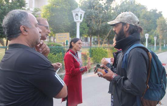 रोहित इंगले ने उदयपुर में किया जन संपर्क