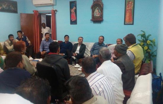 जोधपुर मंड़ल रेल प्रबन्धक की  रेलवे खानपान लाईसेंसधारकों के साथ मीटिंग ।