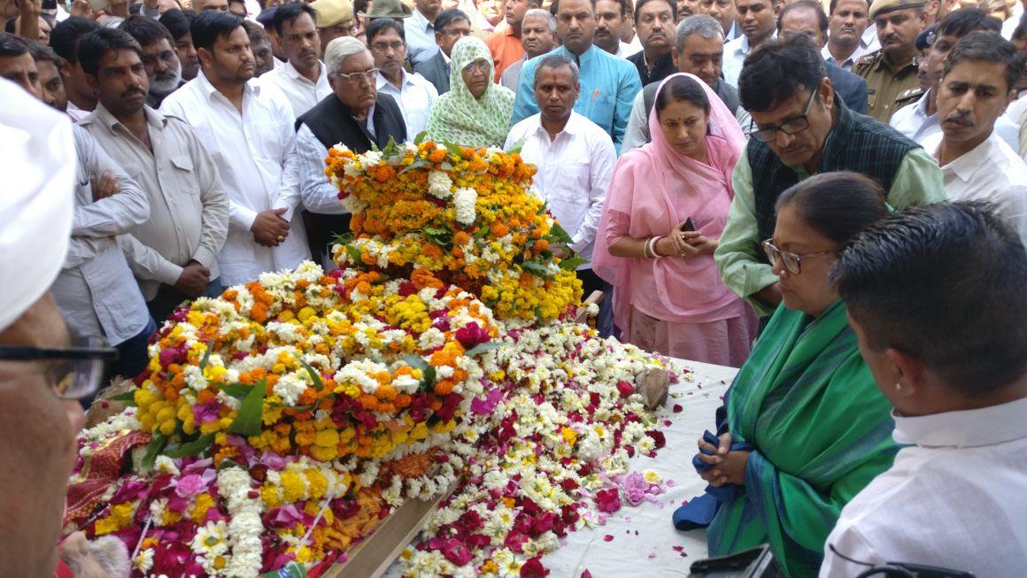 विधायक कल्याण सिंह के देहावसान पर भाजपाईयो मे शोक कि लहर।