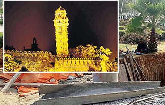 24 लाख रुपए की लागत से मिराज ग्रुप बना रहा विजय स्तंभ का मॉडल