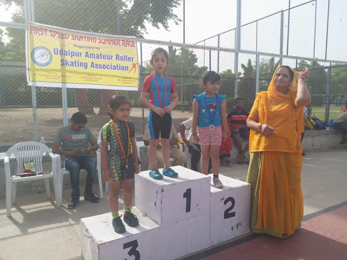 सरगम पाटीदार ने स्केटिंग में जीता गोलड मेडल