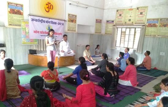 शारीरिक शिक्षको को योग प्रशिक्षण
