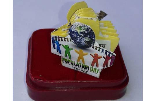 विश्व जनसंख्या दिवस के अवसर पर सूक्ष्म पुस्तिका बनाई