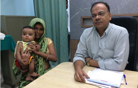 """4-Months Old Operated For Rare Surgery at Geetanjali Hospital"""