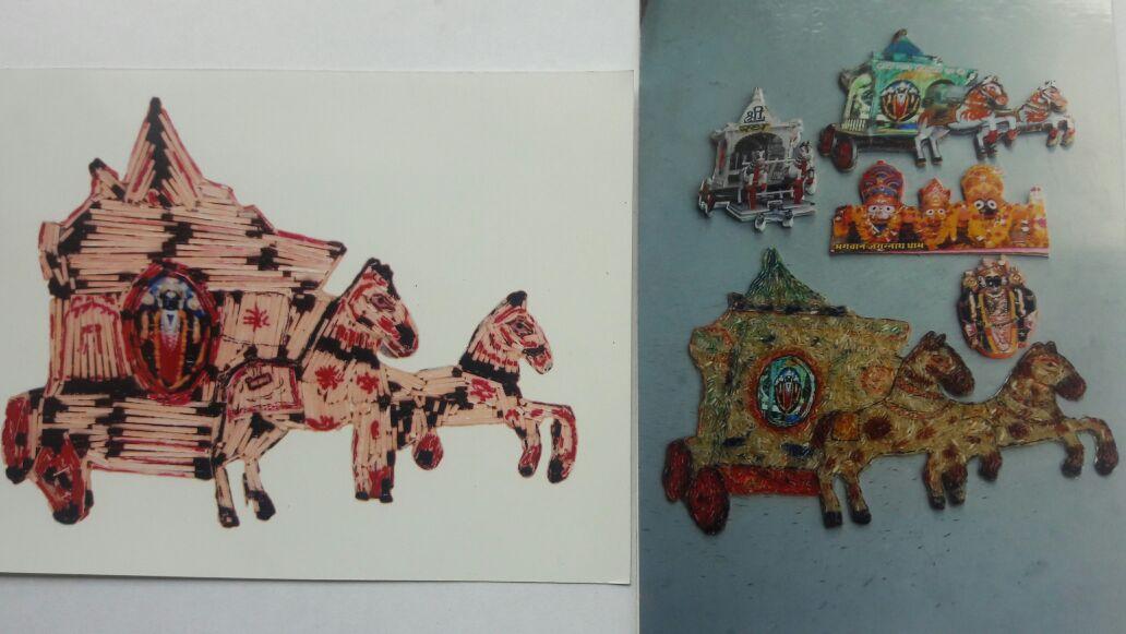 भगवान जगन्नाथ रथयात्रा सूक्ष्म कलाकृति