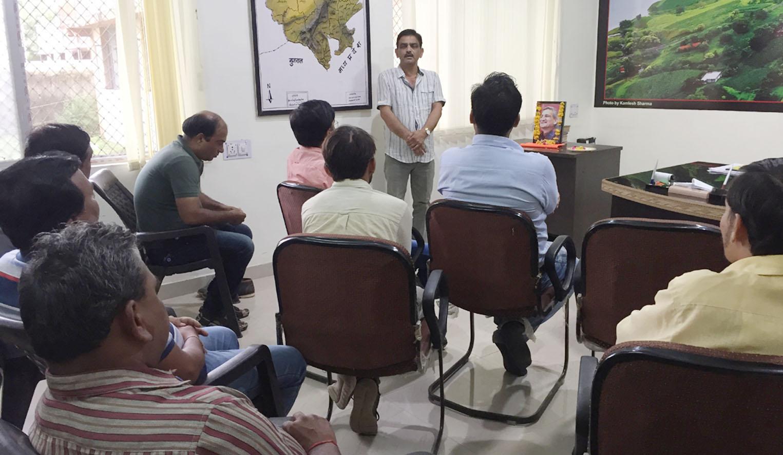 मीडियाकर्मियों ने स्व. कल्पेश याग्निक को दी श्रद्धांजलि