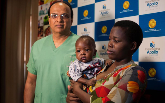 One-year-old Tanzanian boy successfully treated for rare heart