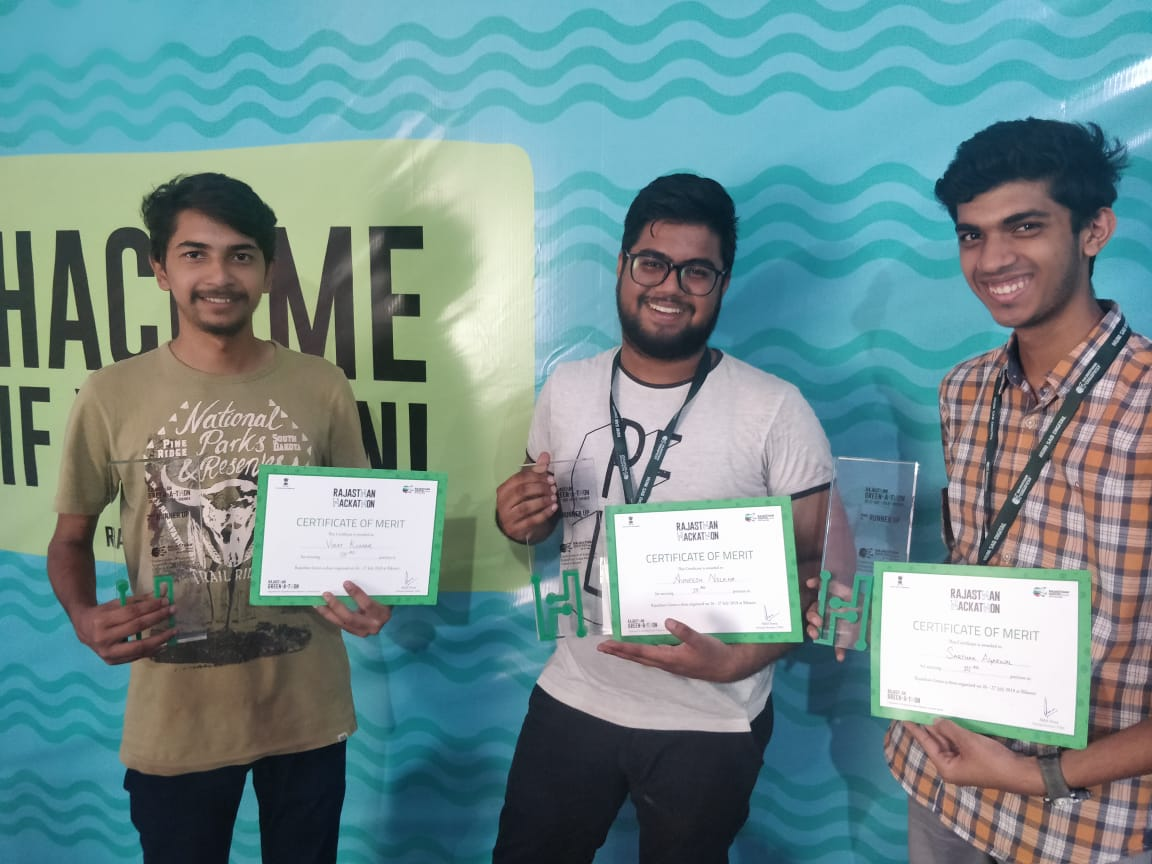 Won 3rd position in Green-a-thon