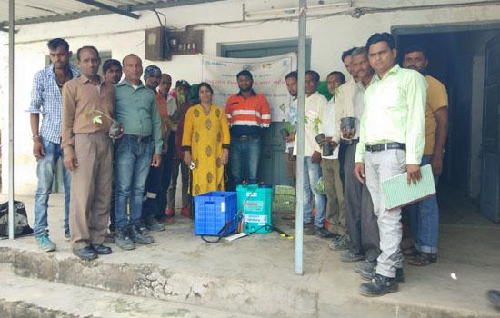 जिंक द्वारा समाधान परियोजना में जावर के २३ किसान लाभान्वित
