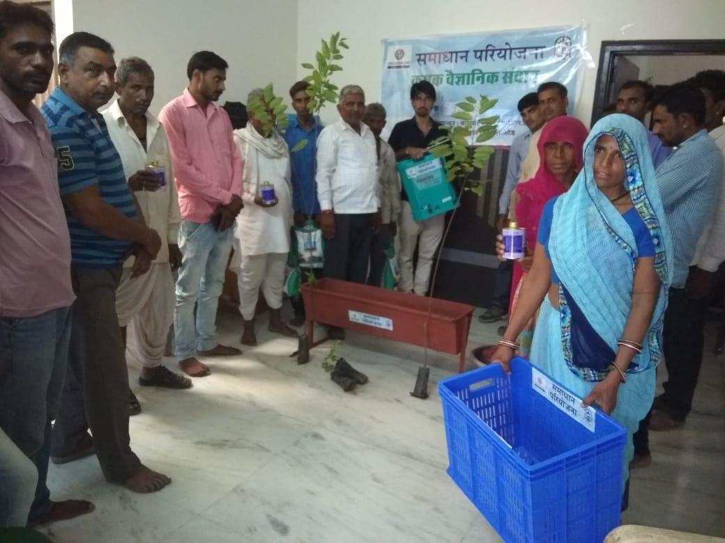 जिंक द्वारा समाधान परियोजना में ४२६ किसान लाभान्वित