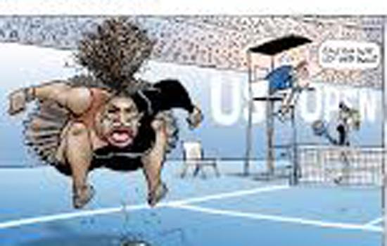 समाचार पत्र ने फिर छापा सेरेना का कार्टून