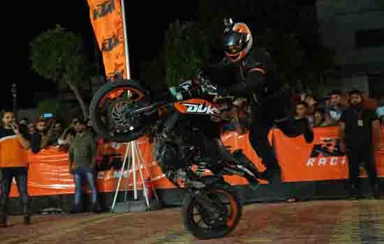 KTMorganises a spectacular Stunt show in Bhilwara