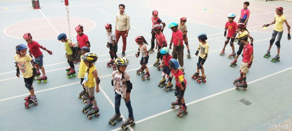 ८० बच्चे रिवर्स स्केटिग पर २८ को बनायगे विश्व रिकॉर्ड'