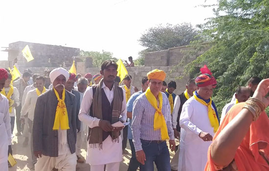 राहुल बामणिया का रोड शो