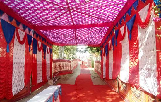 दुल्हन की तरह सजा कठार मतदान केन्द्र
