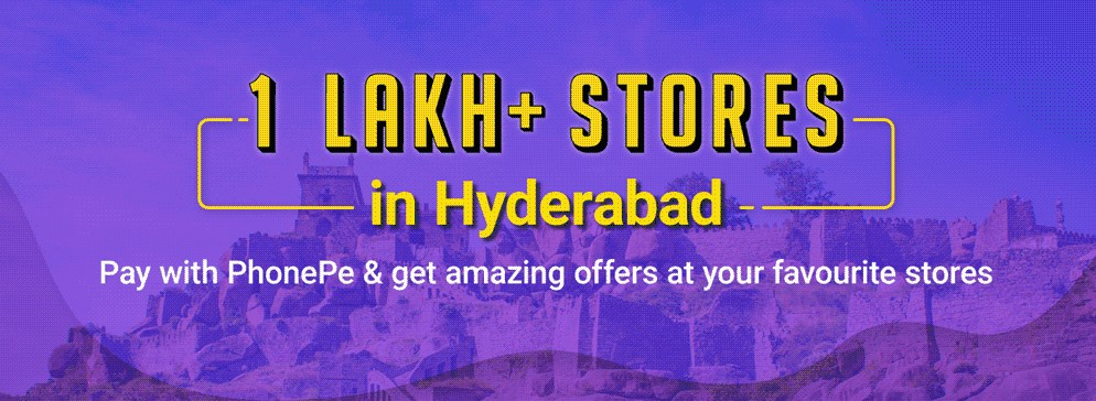 PhonePe is now live across over 1 lakh offline retail stores in Hyderabad