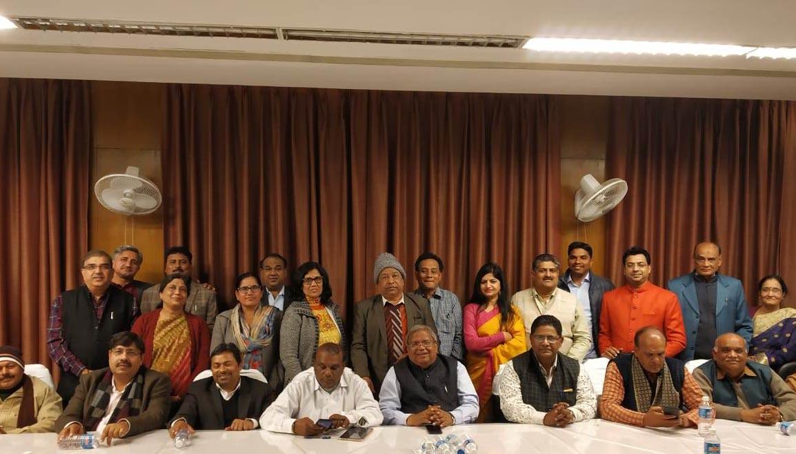 विश्व पुस्तक मेला में आये साहित्यकारों के सम्मान में राजस्थान हाउस, नई दिल्ली में स्नेह मिलन समारोह