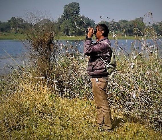 पक्षी विशेषज्ञ पाठक और अधिकारी ने की पक्षी गणना'