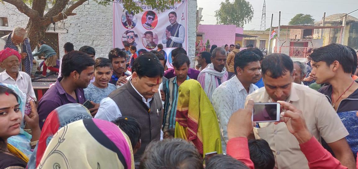 खान एवं गौपालन मंत्री प्रमोद भाया ने गांवों में पहुंचकर