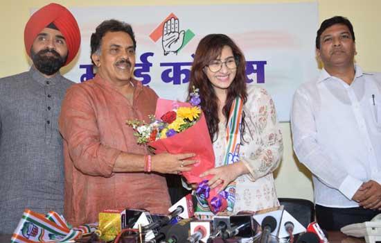 कांग्रेस में शामिल होते ही शिल्पा शिंदे बोलीं