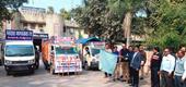 मतदाता जागरूकता रथों को हरी झण्डी दिखाकर किया रवाना