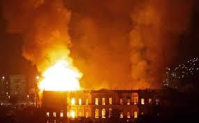 रियो डि जेनेरो के एक फुटबॉल स्टेडियम में भयानक आग