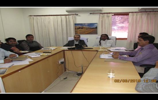 सदस्य सफाई कर्मचारी आयोग के साथ रेल वे अधिकारियों की बैठक