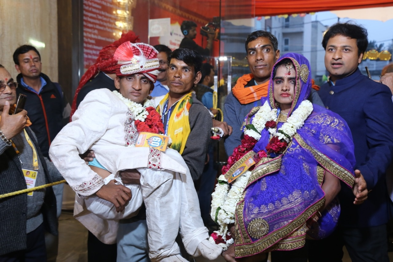 52 Specially abled couples tied the knot at '32nd Royal Mass Wedding