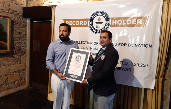 Lakshyaraj Singh Mewar bags Guinness Book of World Records