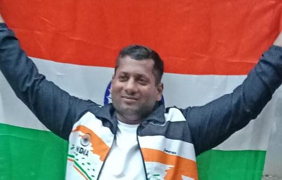 अंतर्राष्ट्रीय खेलों में अमित गुप्ता को स्वर्ण पदक