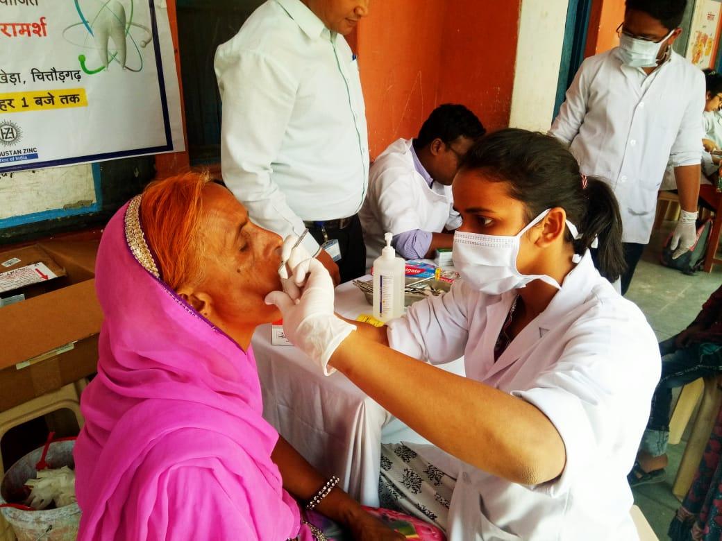 जिंक द्वारा दंत चिकित्सा शिवर में 248 ग्रामीण लाभान्वित
