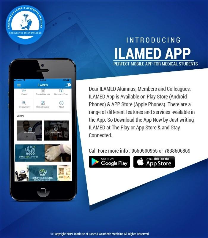 आईएलएएमडी (ILAMED) ने रियल टाइम एस्थेटिक मेडिसिन मोबाइल ऐप लॉन्च किया