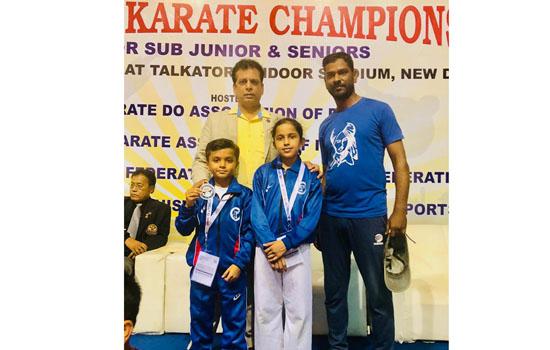 नेशनल कराटे प्रतियोगिता में उदयपुर के क्रिश चित्तौडा को देश में दुसरा स्थान