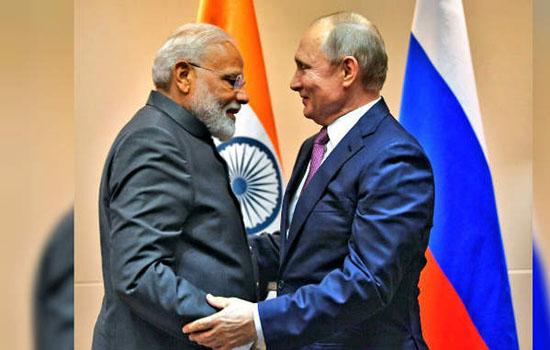 मोदी ने पुतिन से मुलाकात की