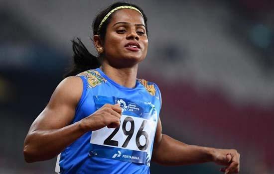 200 मीटर के फाइनल में पांचवें स्थान पर रहीं दुती चंद