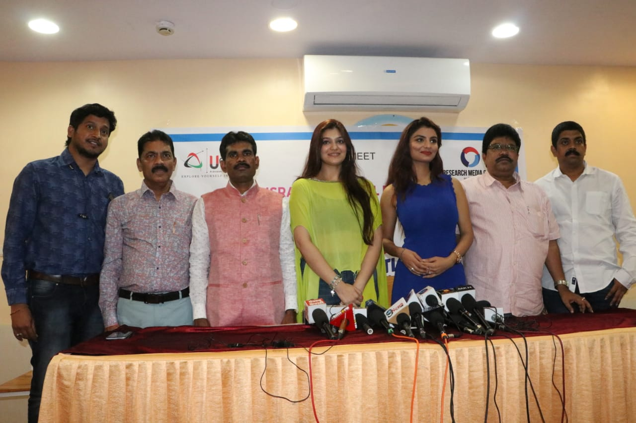 'Gandii Baat' Fame Anveshi Jain and 'Sanju' Fame Actress Aditi Gautam Attended A Press Conference in Mumbai