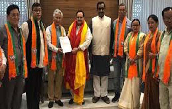 10 विधायक सिक्किम डेमोक्रेटिक फ्रंट के भाजपा में शामिल