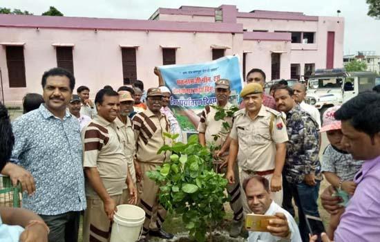 गुरूजी के अवतार माह की खुशी में सेवादारों ने लगाये 230 पौधे